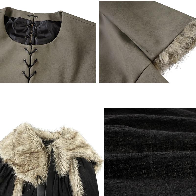 Jon Snow Costume Game of Thrones Season 8 Cosplay Leather Vest Cloak Custom Made