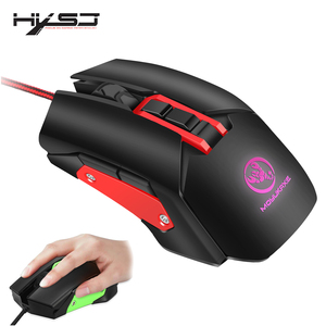Image 1 - HXSJ New Gaming Mouse Backlit Computer mouse with cable macro mechanical mouse 3200 DPI USB for PC