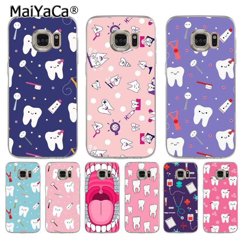 Maiyaca Nurse Doctor Dentist Stethoscope Tooth Injections Silicone Phone Case For Samsung Galaxy S8 S7 Edge S6 Edge Plus S5 S9 Cellphones & Telecommunications