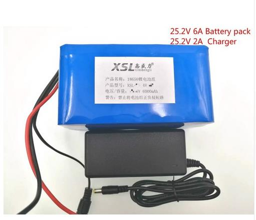 24V 6Ah 6S3P 18650 Battery li-ion battery 25.2v 6000mah electric bicycle moped /electric/lithium ion battery pack+1A Charger 30a 3s polymer lithium battery cell charger protection board pcb 18650 li ion lithium battery charging module 12 8 16v