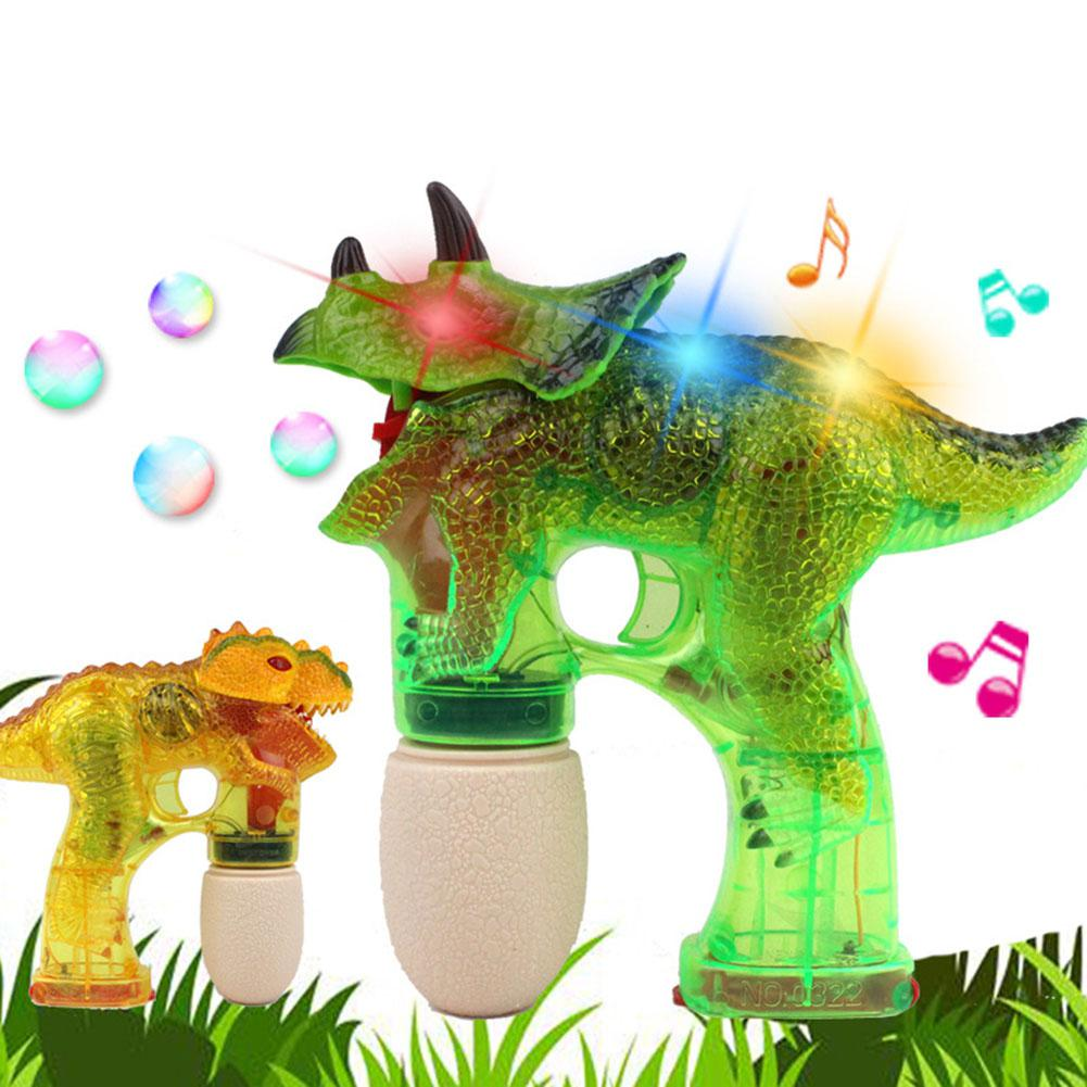 LeadingStar Children Dinosaur Bubble Maker Electric Bubble Gun with Music Light as Perfe ...