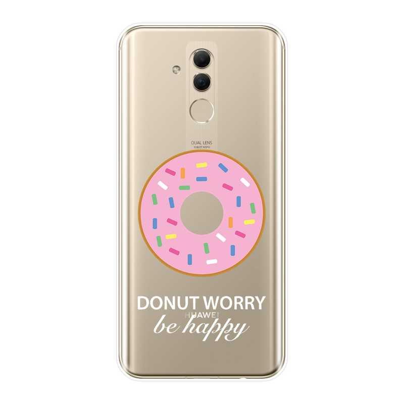 סופגנייה קרח קרם Cooky לשתות טלפון מקרה עבור Huawei Mate 7 8 9 10 20 Lite רך סיליקון כיסוי אחורי עבור Huawei Mate 9 10 20 פרו