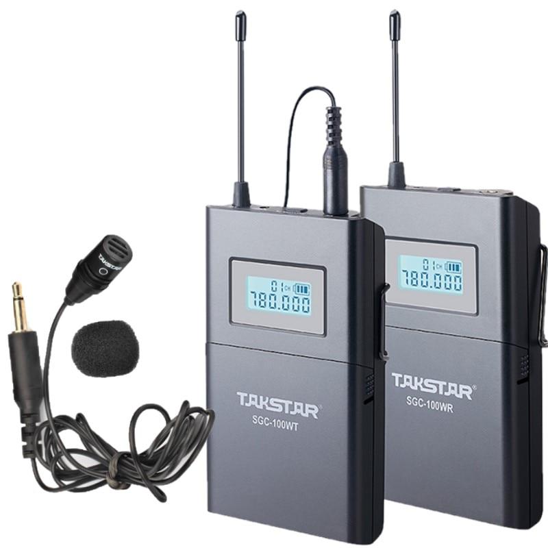 Takstar SGC 100W Wireless Lavalier Lapel Microphone System for Canon Nikon Sony DSLR Camera Camcorders Audio