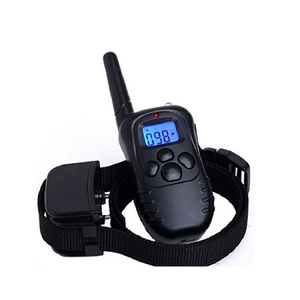 Pet Collar 300M Remote Electric Shock Vibration Rechargeable Rainproof Pet Dog Training Collar With LCD Display WLYANG