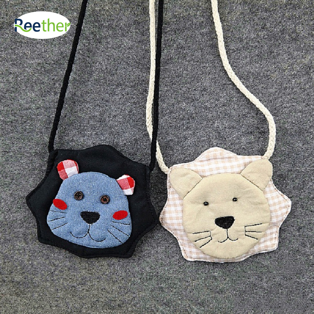 Reether Girls Coin Purse Lion Bags Kindergarten Childrens Shoulder Messenger Bag Kids Pouch Wallet Package Decoration Gifts
