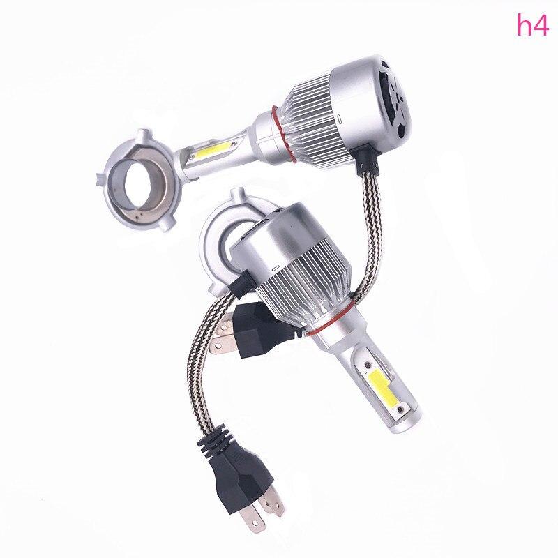 2 PZ Testa Della Lampada Auto Luci LED C6 H1 H3 H4 H7 9006 9012 COB auto anteriore lampadina fendinebbia 7200LM 9 V-36 V 6000 K