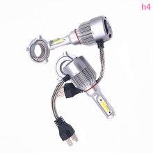 2 шт. Авто голова лампа загорается светодиодный C6 H1 H3 H4 H7 9006 9012 удара Авто Передние противотуманные лампочки 7200LM 9 В-36 В 6000 К