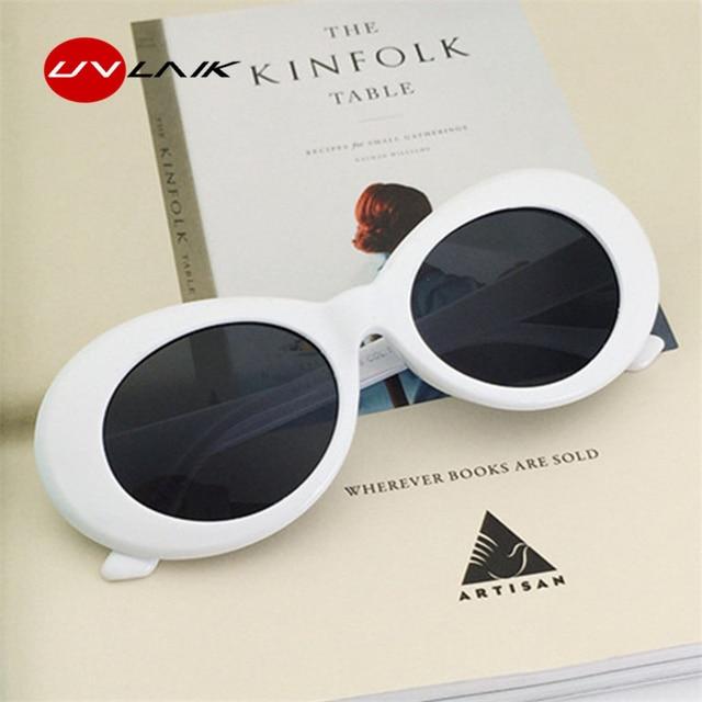 UVLAIK Clout Goggles Sunglasses Women NIRVANA Kurt Cobain Glassess Female Male UV400 Sun Glasses Womens Men Fashion Oval Glasse