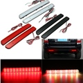 2x 24 LED Rear Bumper Reflector Parking Brake Running Turning Light For Land Rover/Discovery 3 4/L320/Facelift