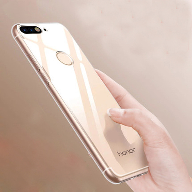 reputable site a695c 90be8 US $1.39 30% OFF| Y6 2018 Cases For Huawei Y6 Prime 2018 Case Slim Fit  Transparent Silicone Clear Soft Back Cover For Huawei Y6 2018 Phone  Cases-in ...