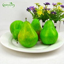 High artificial pear green pineapple september2000 fake fruit model home decoration props