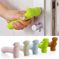 2 PCS Lot Cute Children Soft Silicone Door Handle Safety Protector Baby Safety Products