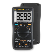 AN8009 Auto Digital 9999 Counts Multimeter True-RMS Ohmmeter AC/DC Voltage Ammeter Current Meter Transistor Tester Multimetro aneng an8009 auto range digital multimeter 9999 counts backlight ac dc ammeter voltmeter ohm transistor tester multi meter