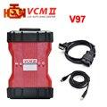 Venda quente V98 2 em 1 ferramenta de Diagnóstico IDS VCM II Para Fd/para Mazda VCM 2 VCM2 OBD2 Scanner Verde Único PCB DHL Livre grátis