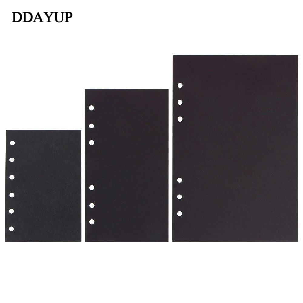 Notebooks Filler Papers Crafts Inner 40 Sheets Black Card Handmade Inside Pages Stationery Office School Supplies