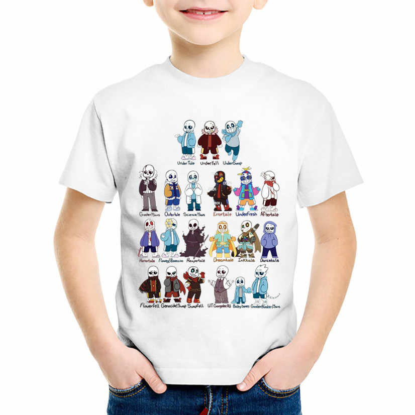 Detail Feedback Questions about Fashion Print Undertale Sans Gather Children  Funny T shirts Kids Game Summer Tees Boys Girls Casual Tops Baby Clothes ... 221427db86a8