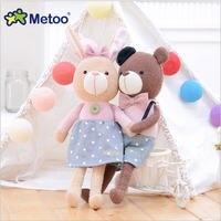Metoo 38cm Plush Toys Stuffed Animals Baby Kids Toys Lover Bunny Girl Kids Birthday Christmas Gift