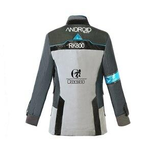 Image 4 - ROLECOS משחק דטרויט הפך אדם קוספליי תלבושות קונור RK800 חליפת אחיד מעיל חולצה עניבה לגברים מסיבת קוספליי בגדים