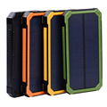 Banco Energia Solar 10000 mAh Carregador de Bateria Solar Painéis Solares Powerbank Bateria Externa Carregador Portátil para a Bateria Do Telefone