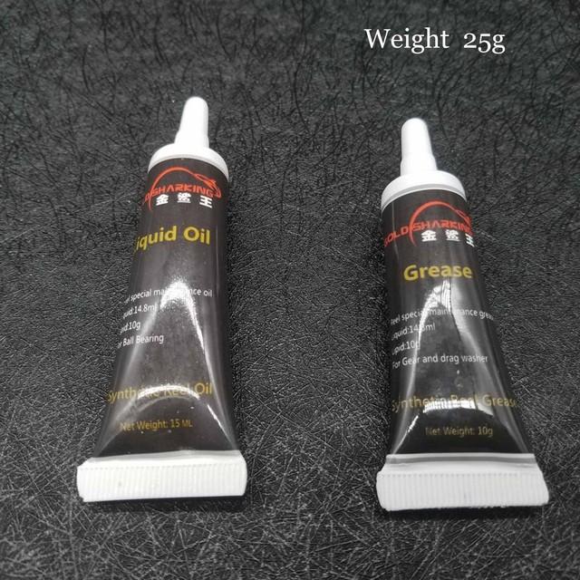 2Pcs/ Set Fishing Reel Oil Reel Grease and Liquid Oil lubricant Bearing Repair Kits Tool