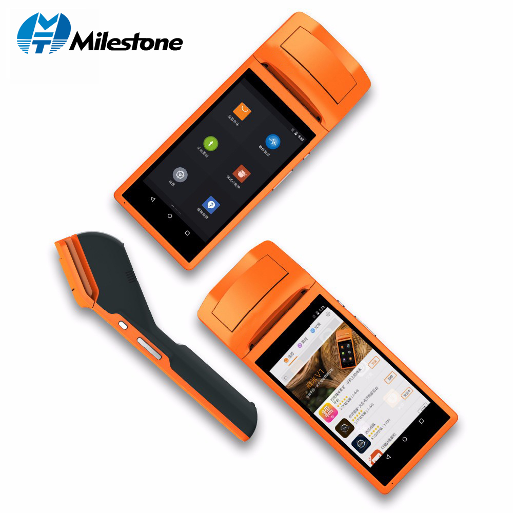Milestone POS Portable Thermal Receipt Printer WIFI bluetooth Touch Screen IOS Android usb Terminal GPRS 58mm