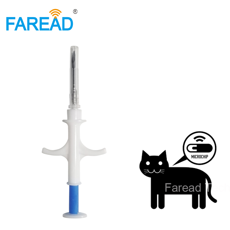 ISO11784/5 FDX-B 134.2Khz 2.12*12mm Veterinary Syringe Bioglass Dog Tracking RFID Chip Animal Microchip