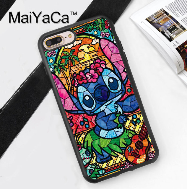 MaiYaCa Lilo and Stitch Stained Glass Soft TPU Cover case
