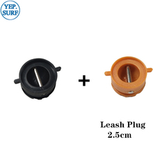 цена на Leash Plug Diameter 2.5cm Surf leash Plugs 5pcs Orange +5pcs Black