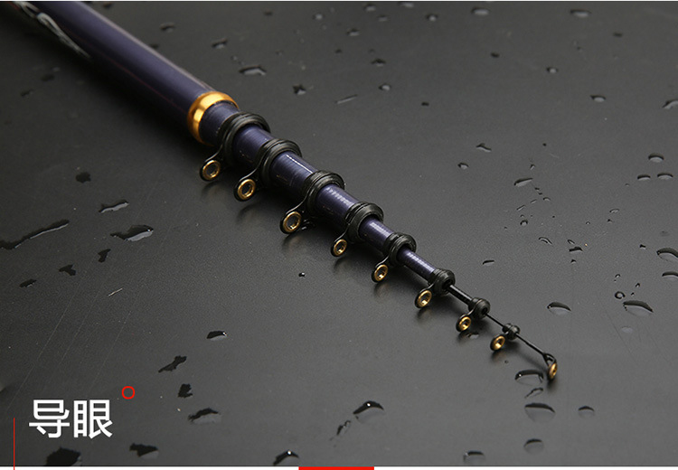 Image 3 - carbon fiber telescopic rock fishing rod 3.6 5.4m hard spinning rod closed 78cm travel stick bass carp pole-in Fishing Rods from Sports & Entertainment