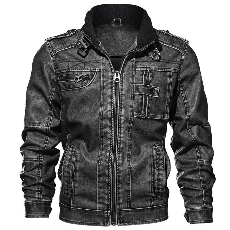 Pilot Mens Leather Jacket 6XL Plus Size Vintage Motorcycle Leather Coats Man Bomber Jacket Overcoat Leather Windbreaker Men A625
