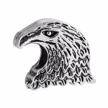 1pcs/lot European Eagle Head Silver Beads Fit Pendant Bracelets Authentic 925 plated Silver Charms DIY Jewelry(China)