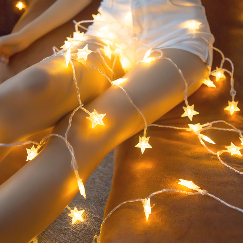 10M 20M 30M 220V LED Christmas Garlands Star String Lights Outdoor / Indoor Fairy Lamp For Holiday New Year Party Decoration
