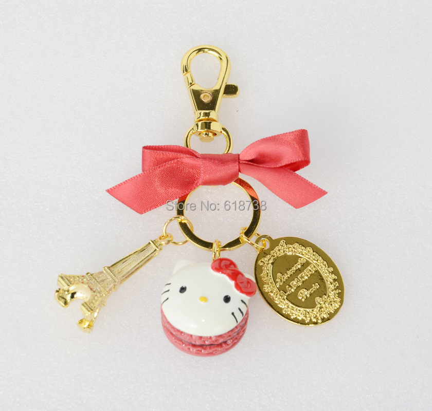 165d668cad90 KC16 New Classic Cartoon Cute Hello Kitty Keychain Key Chain Key ...
