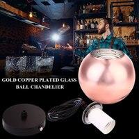 Vintage Retro Kroonluchter Plafondlamp Hanglamp Champagne Opknoping Glas Spiegel Bal Trappen Slaapkamer Keuken Hal