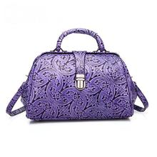 Retro Embossed Leather Girls Fashion Bags Wholesale Fashion Shoulder Women Totes Genuine Leather Women Leather Handbags