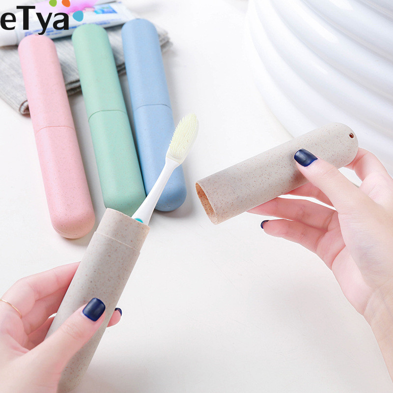 ETya Women Men Fashion Toothbrush  Box Case Portable Travel Protect Toothbrush Holder Cover Bag Travel Accessories