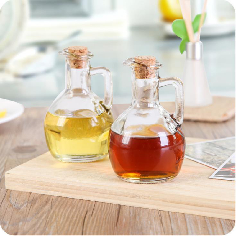 Online Shop New Clear Glass Small Oil Bottle Kitchen Sauce Seasoning Bottles  Home Waterproof Glass With Cork Oil Bottle Cooking Tool | Aliexpress Mobile