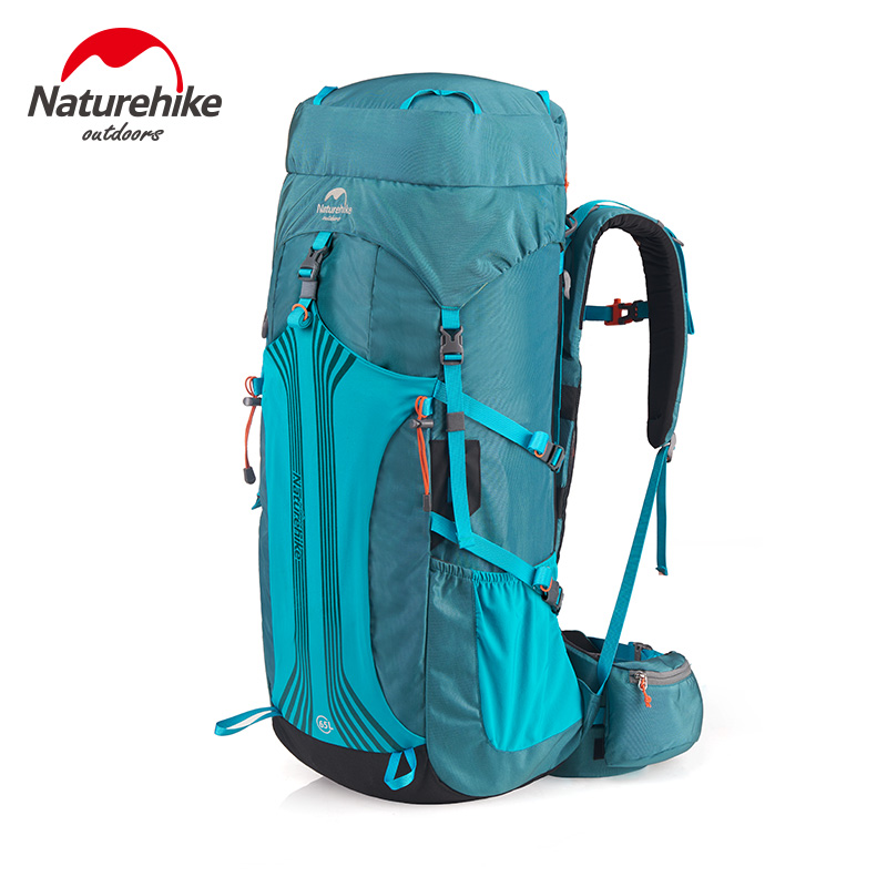 Naturehike Factory Store 55L 65LOutdoor Backpack Sport Travel Hiking Camping Large Backpack Professional Mountaineering Bag