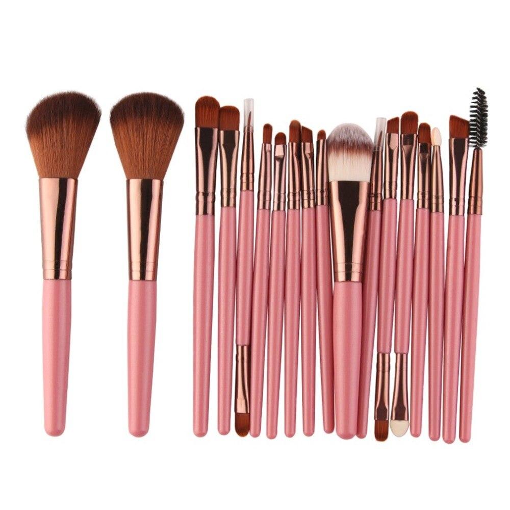 18 PCS Set Makeup Brush Set Cosmetic Powder Foundation Brushes Make Up Brush in Eye Shadow Applicator from Beauty Health