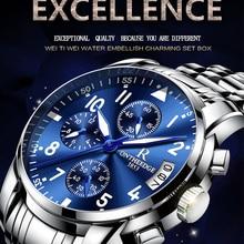 ONTHEEDGE Watch Men Waterproof Quartz Mens Sports Wristwatches Business Male Clock Luminous Hands Chronograph Relogio Masculino цена и фото