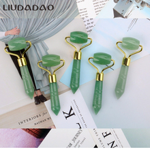 Aventurine Jade Rollers Massager Natural Crystal Face Lift Rollers Skin Care Tools Mini Stone Facial