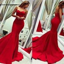 Red Mermaid Bridesmaid Dresses 2020 Sweetheart Zipper Back S