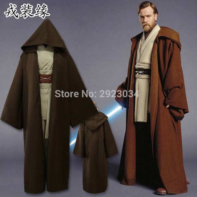 star wars jedi knight costume adult mens obi wan kenobi fighting suits cosplay costume halloween