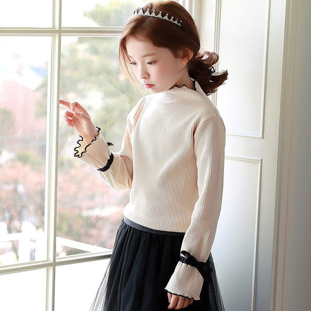 2978f658f Online Shop Korean knitting school big baby girl sweaters 2018 ...