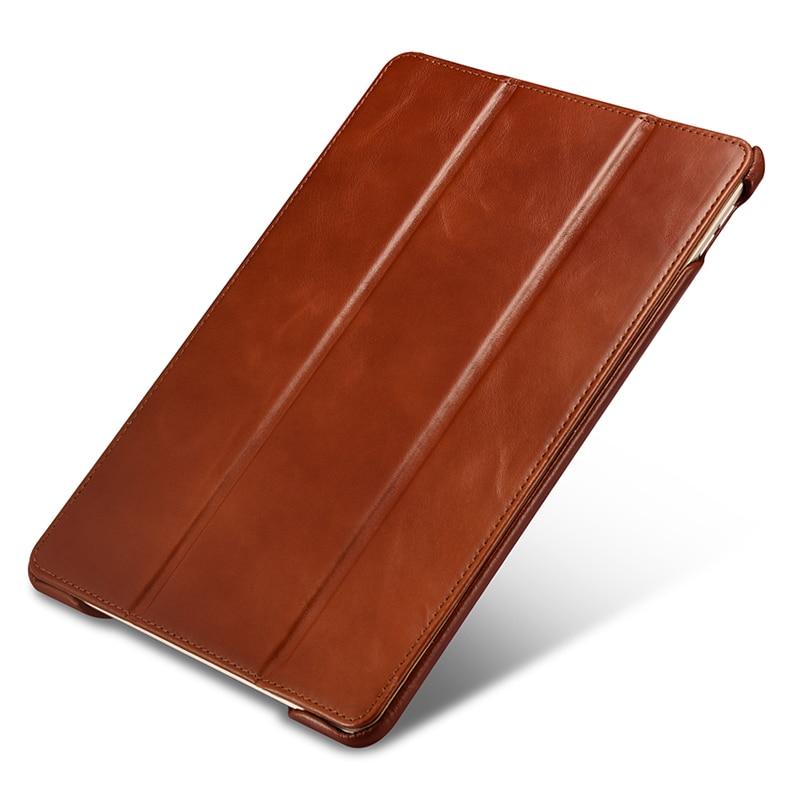 цена на Original ICARER For iPad Pro 10.5 Case Vintage Genuine Leather Folio Smart Case For iPad Pro 10.5 inch Cover Magnetic Auto Wake