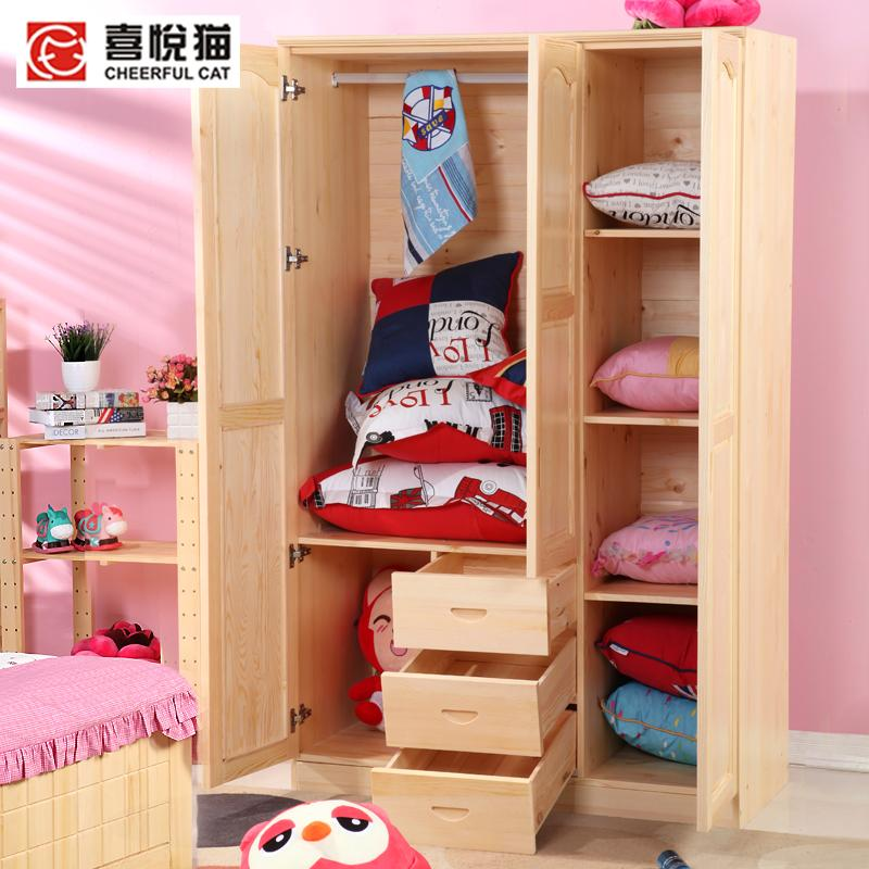 Awesome Cats All Solid Wood Pine Furniture Pine Wood Furniture Childrenu0027s Wardrobe  Closet Three Large Wardrobe With Drawers In Children Furniture Sets From ...