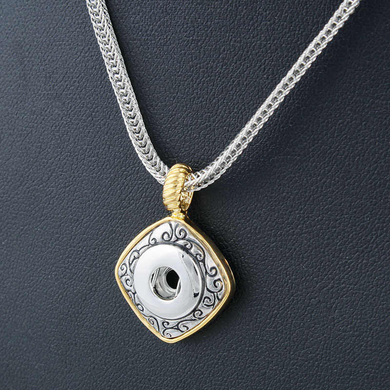 New Elegant Xinnver Snaps Necklace & Pendants Fit DIY 12MM Snap Buttons Jewlery With Chain 57CM ZG073