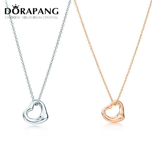 DORAPANG Fashion Popular 925 Sterling Silver Love Of Heart Series & Heart To Heart Necklace Charms Women Jewelry Free Mail