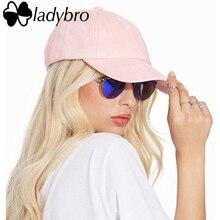 Ladybro Весна Замши Крышка Розовый Повседневная Cap Женщины Мужчины Бренд На Открытом Воздухе спорт Кости Мужчины Бейсболки Женщины Snapback Папа Hat Cap Женщина