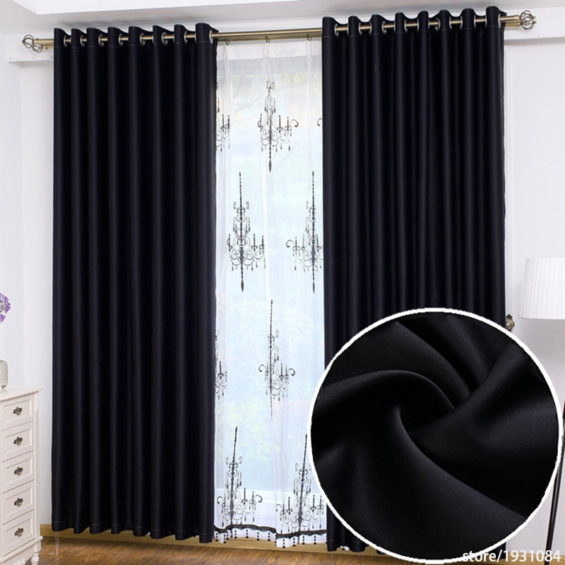 Modern Black Blackout Curtains For Living Room Kitchen Bedroom Hotels Blinds Cortina Quarto 126m 326m Customized In From Home Garden
